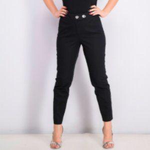 ALFANI Ornamental-Button Skinny Pant 16W Black